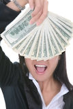 Business Woman with Money royalty free stock photography