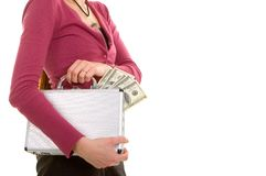 Business woman and money Stock Images