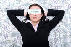 Business woman and money Royalty Free Stock Photography