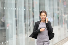Business woman in motion stock photo