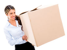 Business woman moving Stock Image