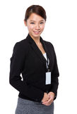 Business woman with name badge Stock Photos