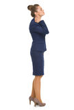 Business woman with neck pain Stock Image