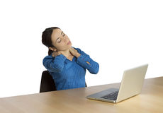 Business woman with a neck pain Stock Image