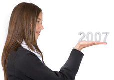 Business woman - new year 2007 Stock Images