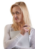 Business woman, nice blonde Royalty Free Stock Image