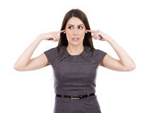 Business woman not listening Royalty Free Stock Image