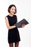 Business woman and note book Royalty Free Stock Photos