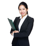 Business woman with note pad Royalty Free Stock Photo