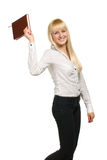 Business woman with notebook Royalty Free Stock Photography