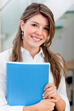 Business woman with a notebook Stock Photography