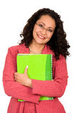 Business woman with notebook Royalty Free Stock Images
