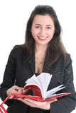 Business woman with a notepad Royalty Free Stock Images
