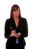 Business Woman With Notepad Stock Photos