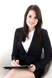 Business woman with notepad Royalty Free Stock Photos