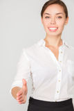 Business woman offer handshake Stock Images
