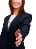 Business woman offering a handshake Royalty Free Stock Photo