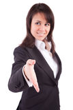 Business woman offering handshake Royalty Free Stock Images