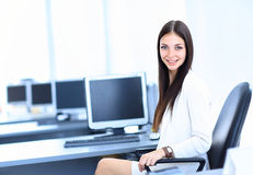 Business woman in the offic Royalty Free Stock Photo