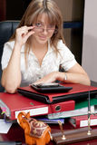 Business Woman in the office royalty free stock photos
