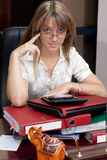 Business Woman in the office royalty free stock image