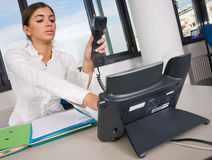 Business woman in office Royalty Free Stock Images