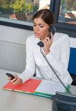 Business woman in office Royalty Free Stock Photo