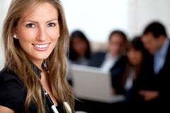 Business woman at the office Stock Images