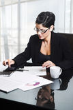 Business woman in office royalty free stock photos