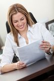 Business woman at the office Royalty Free Stock Image