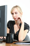 Business Woman in a Office stock images