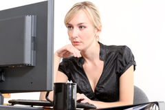 Business Woman in a Office Royalty Free Stock Photography