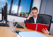 Business woman in office Royalty Free Stock Image