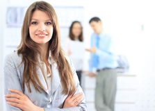 Business woman in a office Stock Image