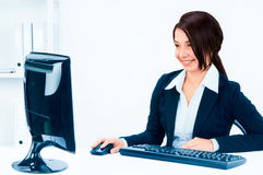 Business woman in an office Stock Photography