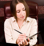 Business woman at the office Stock Photos