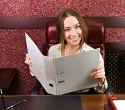 Business woman at the office Royalty Free Stock Photography