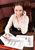Business woman at the office Stock Image