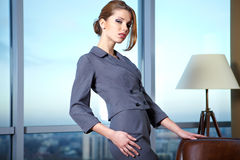 Business woman in an office Royalty Free Stock Photography