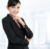 Business woman in an office stock photo