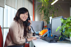 Business woman in office Royalty Free Stock Photography