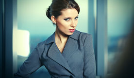 Business woman in an office Stock Images