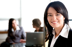 Business woman in an office Stock Image