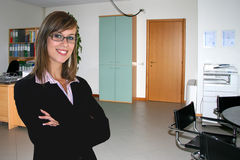 Business woman in office. A Business Woman in Office Stock Image