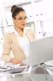 Business Woman in Office Stock Image
