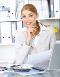Business Woman in Office Stock Photos