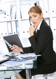 Business Woman in Office Stock Images
