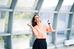 business woman in the office. royalty free stock images