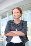 Business Woman at Office Building Royalty Free Stock Photography