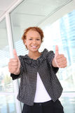 Business Woman at Office Building stock photos